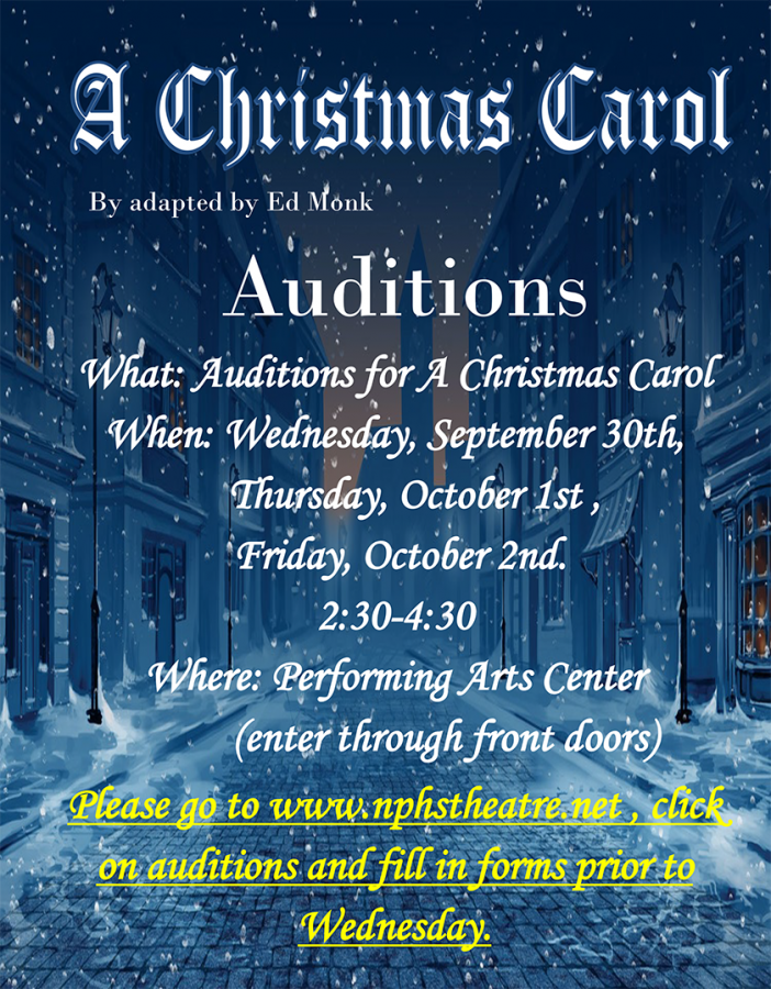 A Christmas Carol: Auditions Coming Up