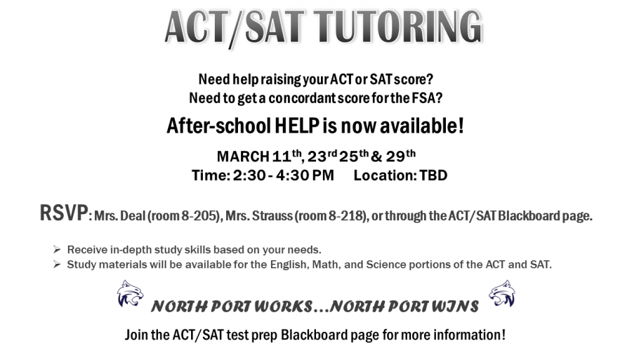 Tuesday, March 30: ACT Testing for Juniors