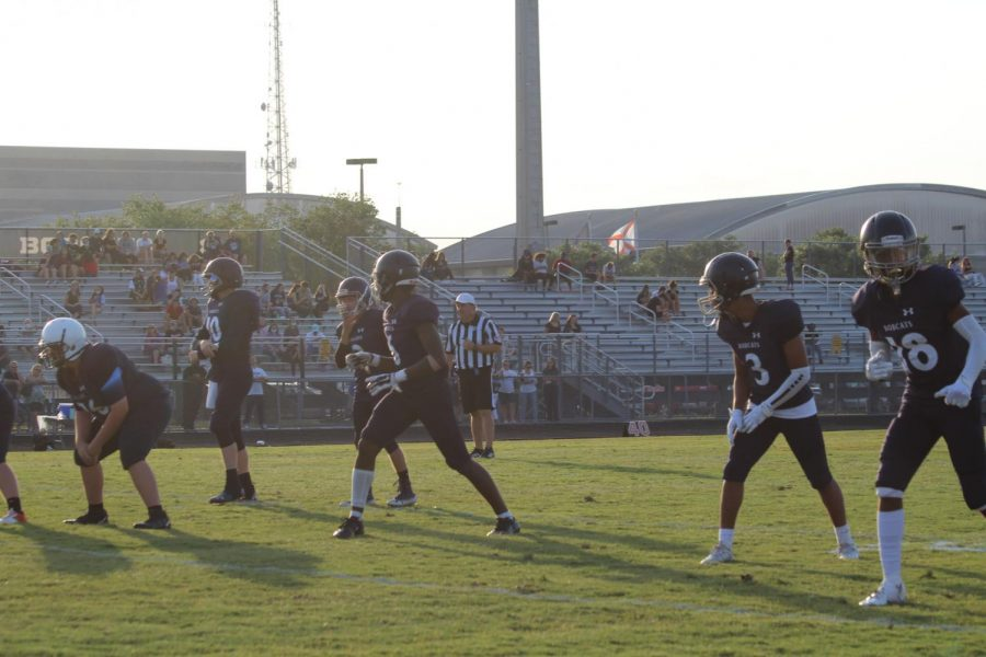 At the Blue vs. Silver game, on May 21st, 2021, wide receiver and corner Kristian Francis checks up with the ref to let him know that he is on the line. Kristian says, success isnt owned, its leased and rent is due every day. Kristian hopes to take football to college.