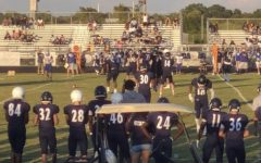 In the game North Port vs. Desoto on May 28, teammates watch and root as their teammates play. Florencio Chavez and Kristian Francis sub each other in the second quarter. North Port ended up with a great win against DeSoto 49-23.