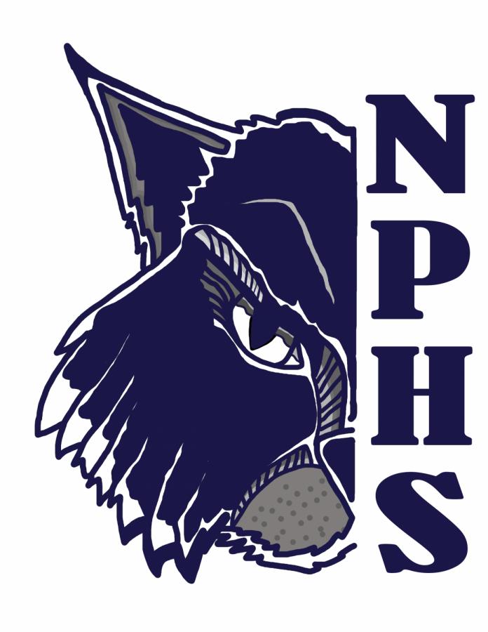 Bobcat half face logo with NPHS